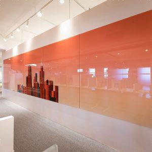 خرید تخته وایت برد شیشه ای رنگی با کیفیت نارنجی